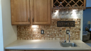 Excess wine corks Backsplash